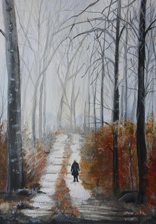 """Listopad"" - obrazek 21 x 29,7 cm"