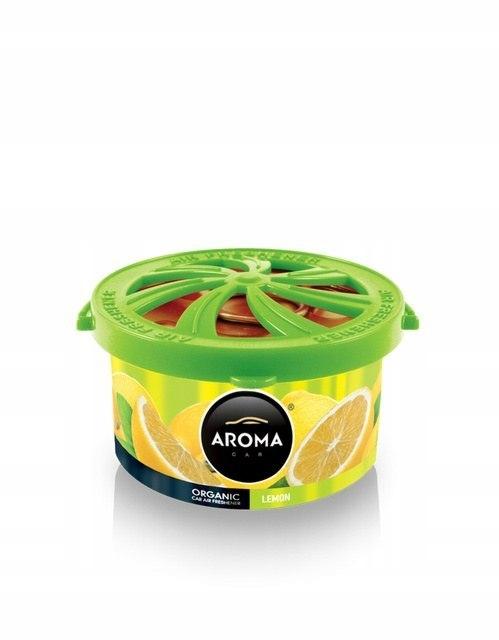 Zapach Aroma Car Organic puszka Cytrynowy