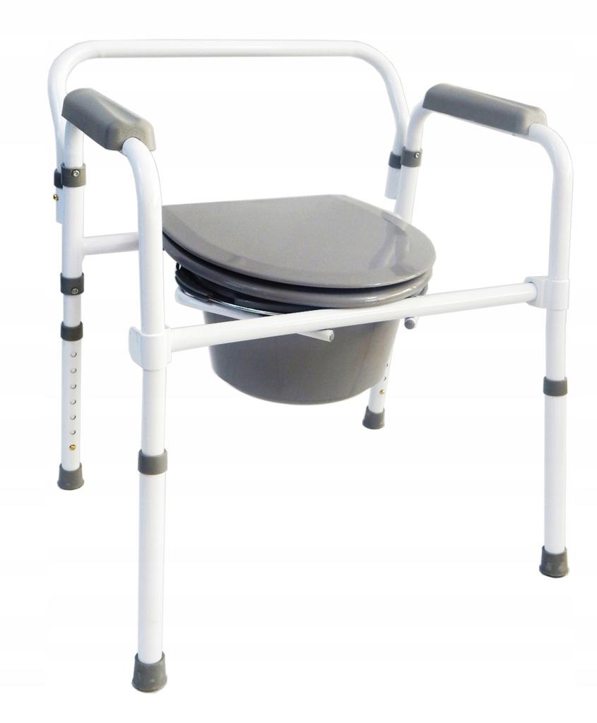 Krzesło toaletowe składane WC sedesowe dla seniorów