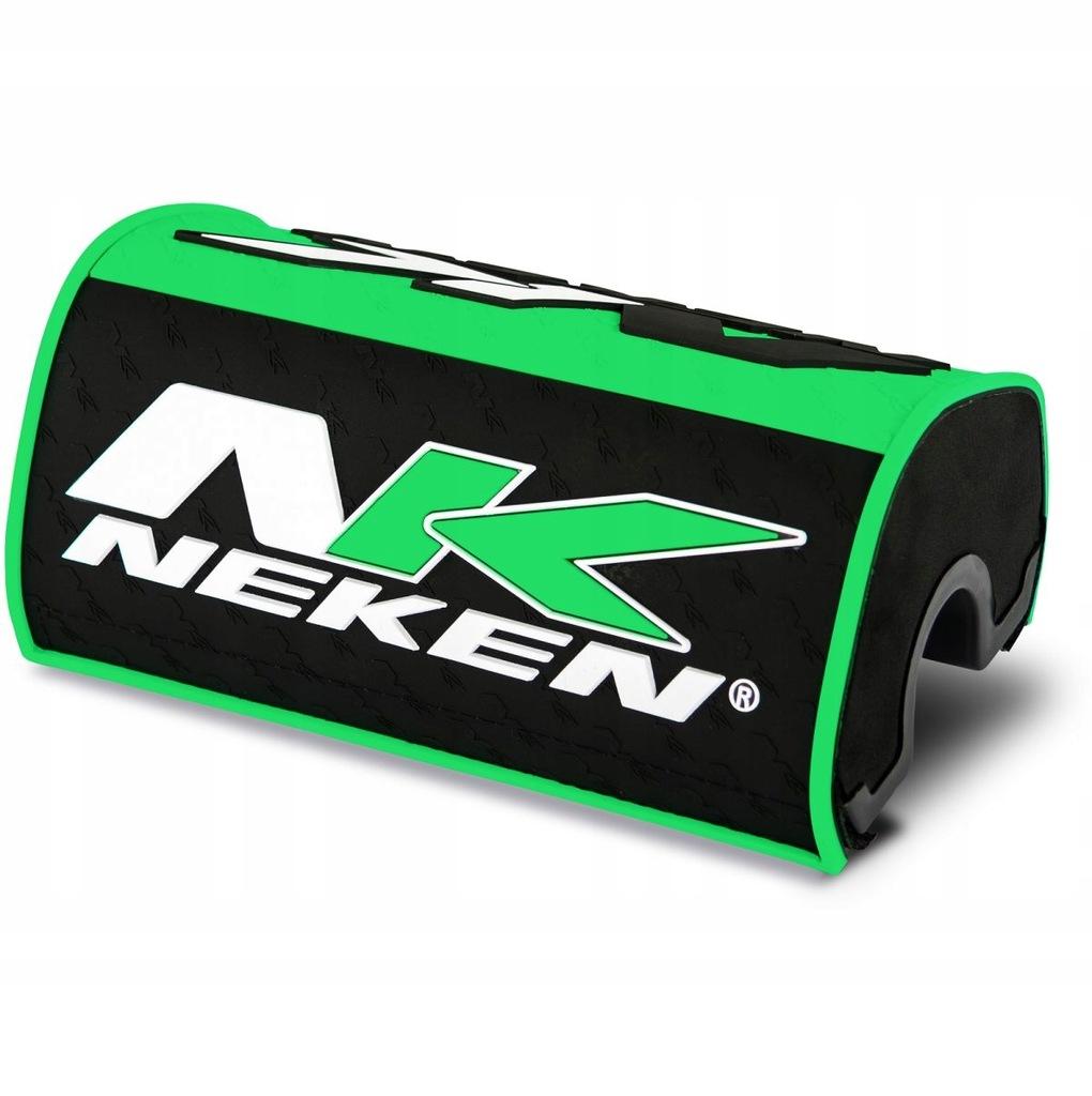 Gąbka na kierownicę Neken zielono-czarna fluo