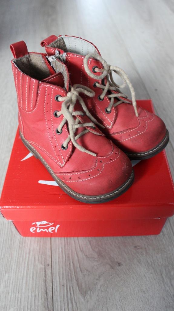 Kozaki Emel zimowe r. 24 czerwone 15,6 cm