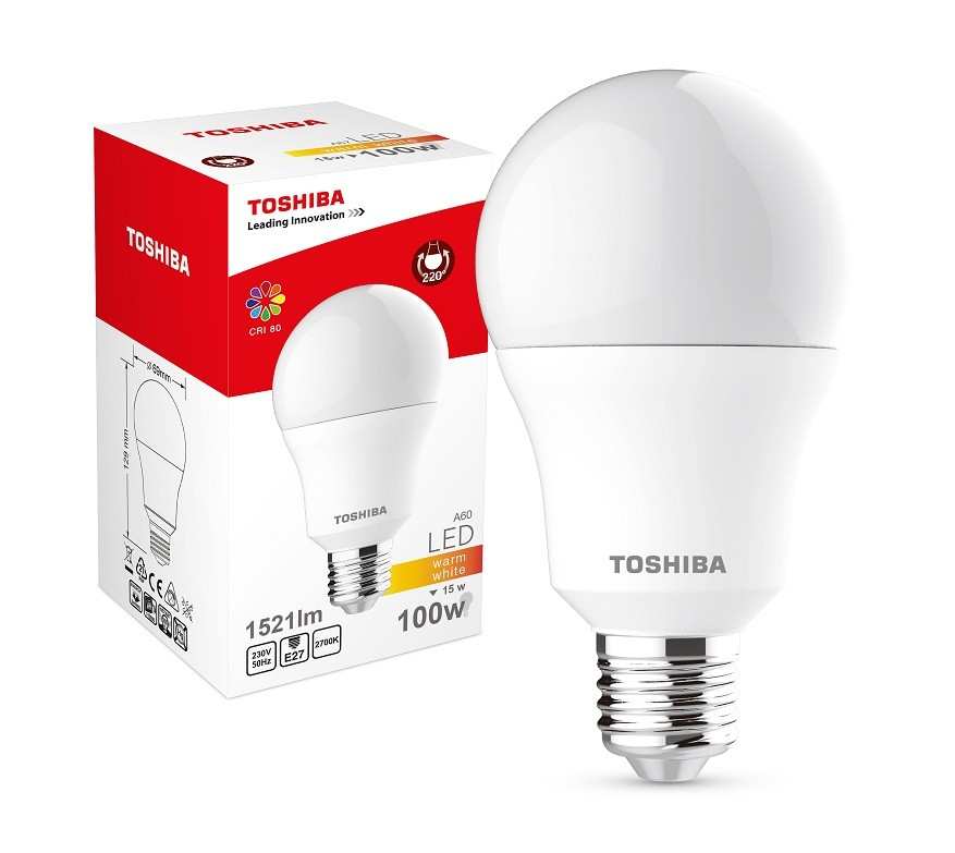 TOSHIBA Lampa LED 15W 230V 1521lm b.ciepły A67