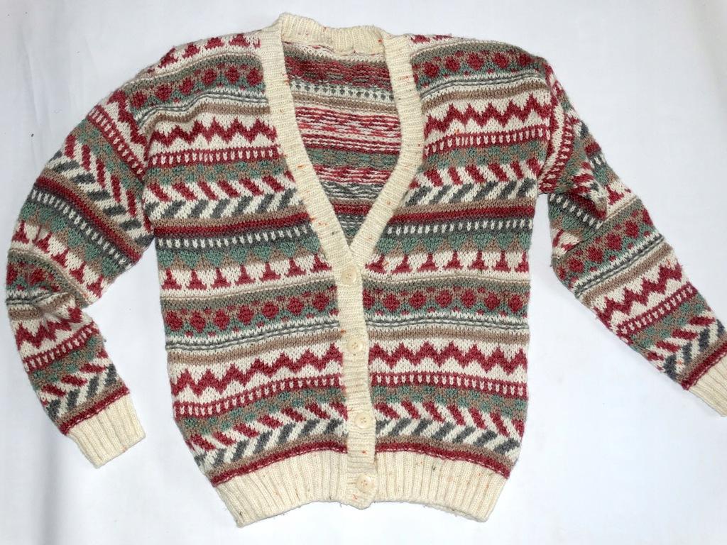 _Wełniany lużny ciepły sweter do pracy _R.36/38_!