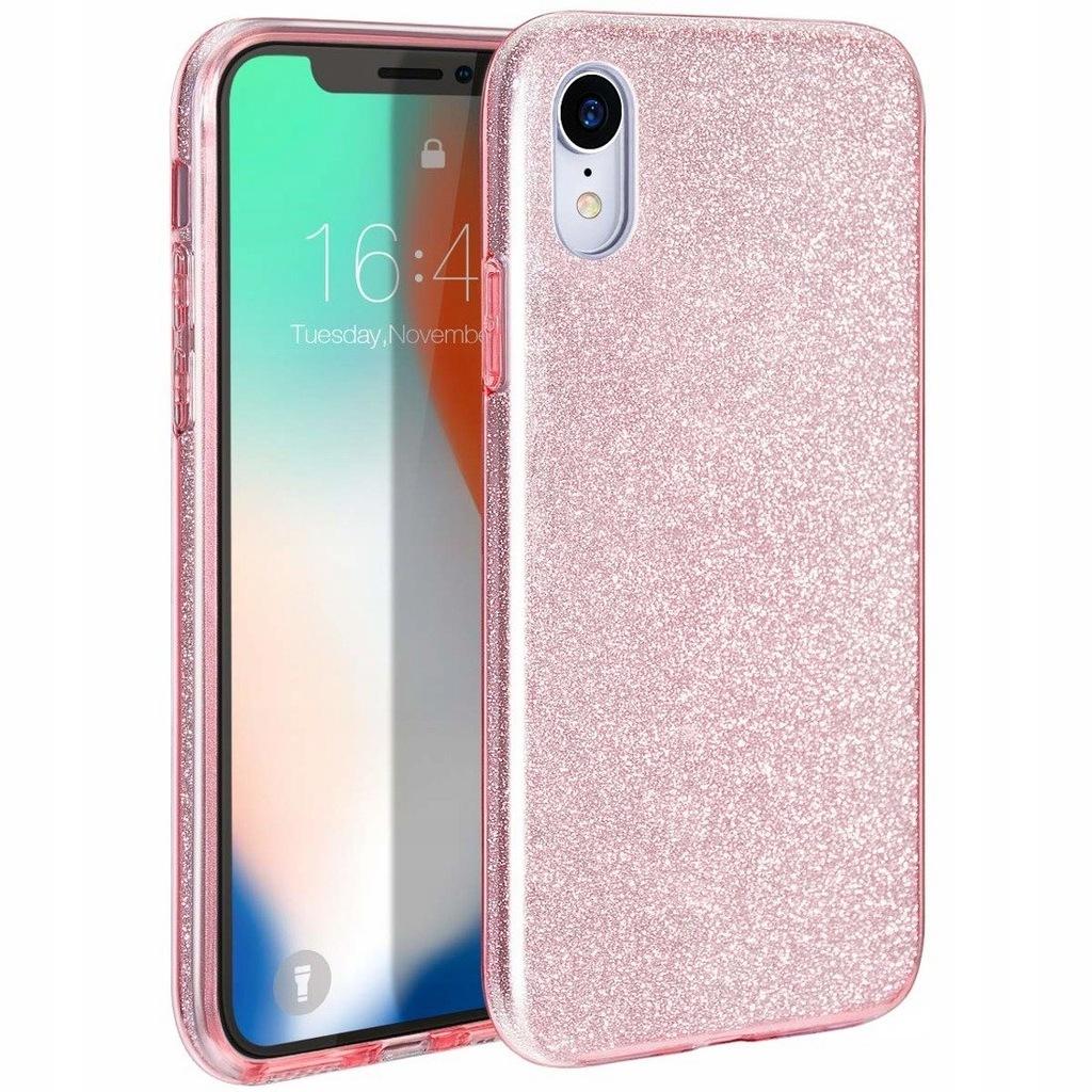 Etui IPHONE 11 Brokat Glitter różowe