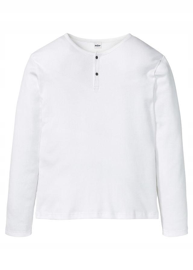 Shirt w prążek długi biały 64/66 (3XL) 969512