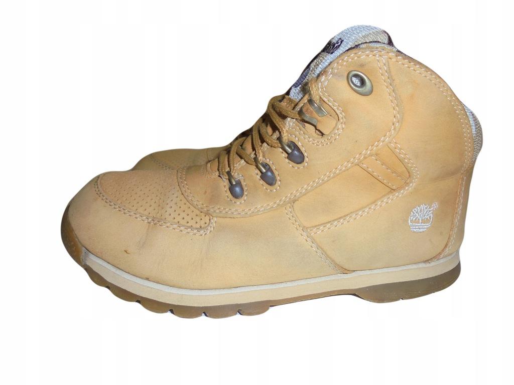 Skórzane buciki firmy Timberland. Rozmiar 34.