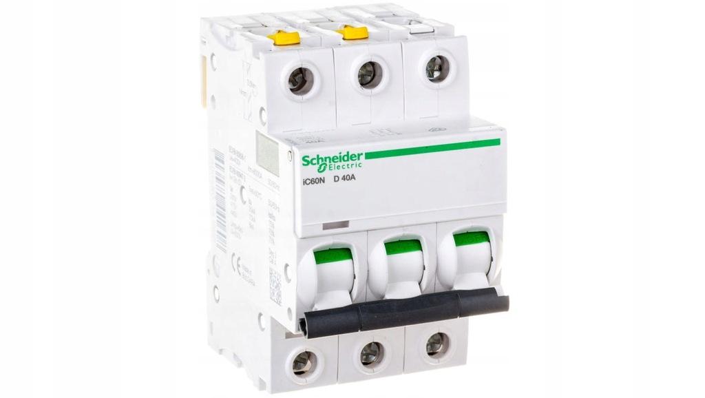 Wyłącznik nadprądowy 3P D 40A 6kA AC iC60N-D40-3 A