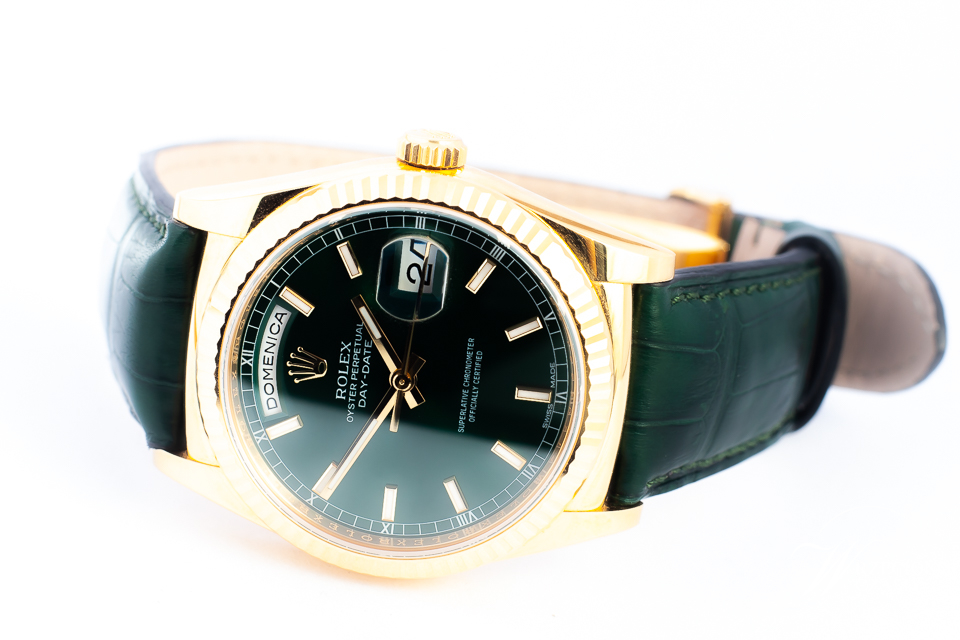 ROLEX OYSTER DAY-DATE 118138 COSC 18K 36MM/KPL.