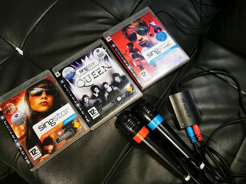 Singstar PlayStation 3 PS3 nowe plus 3 gry karaoke