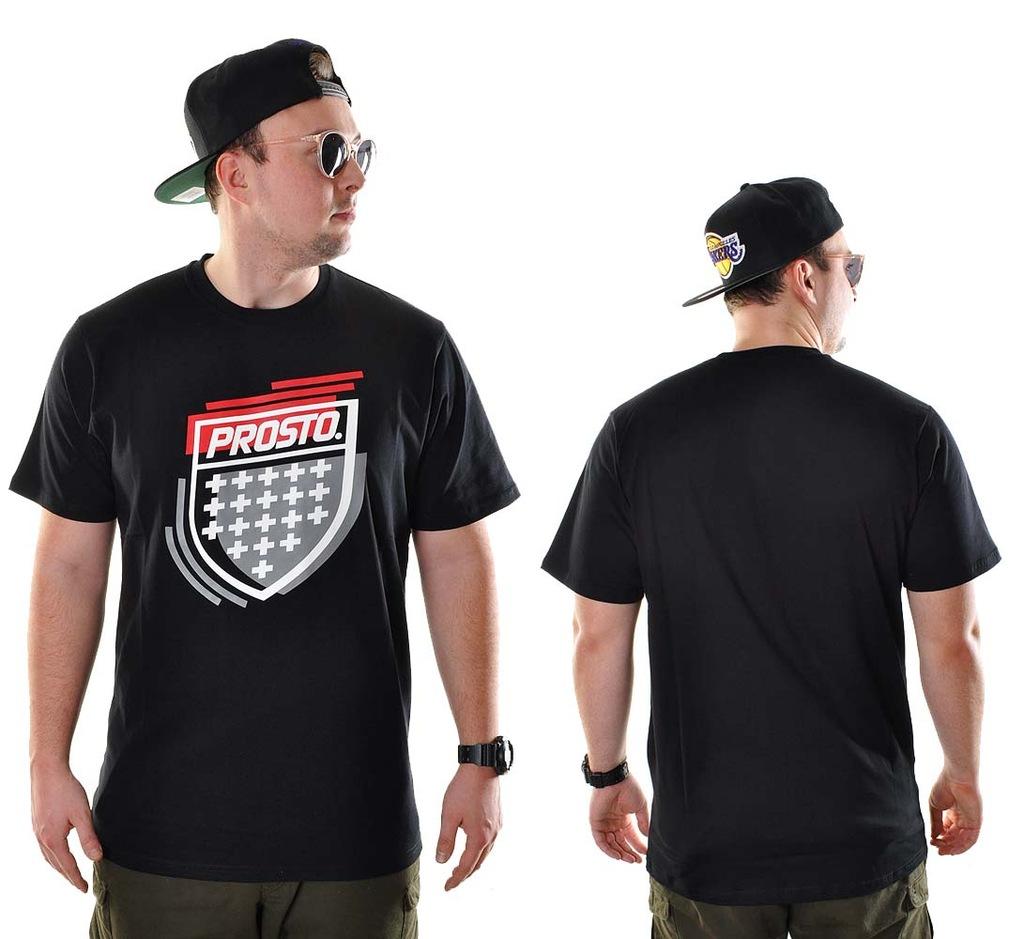 -30% Koszulka L Prosto Klasyk BLAZE czarna t-shirt