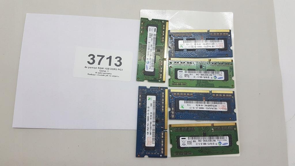 5x pamięć RAM 1GB DDR3 PC3 (3713)