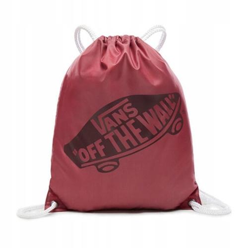 Plecak na sznurkach w kratkę i kwiaty Vans BENCHED Bag Rose