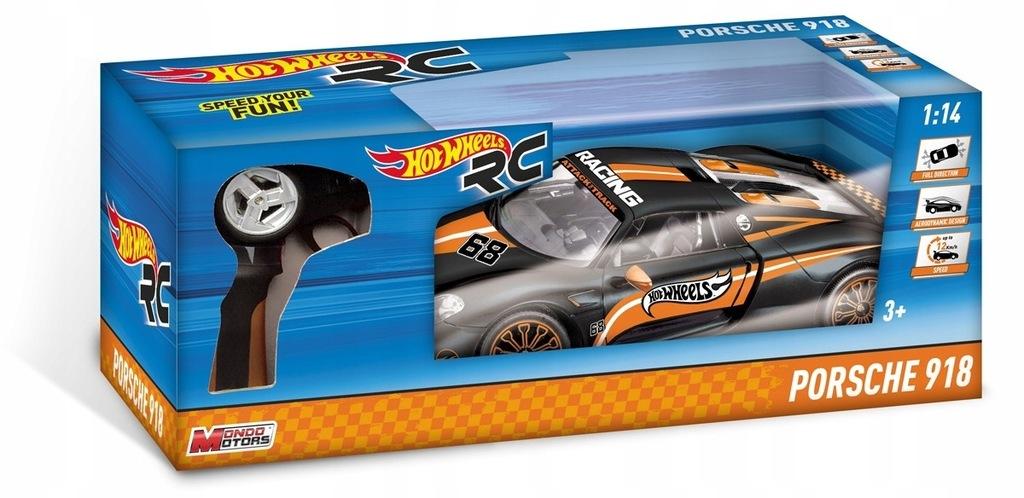 BRIMAREX Hot Wheels pojazd R/C 1:14 Porsche 918