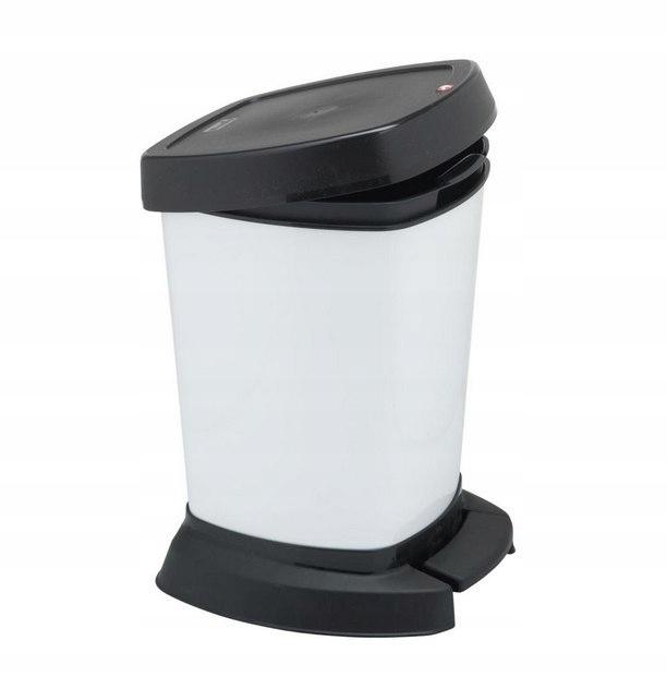 Kosz na śmieci łazienkowy biały 6L na pedał pokryw