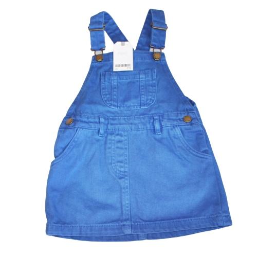 Next Sukienka Ogrodniczka Jeansowa Blue 104 cm