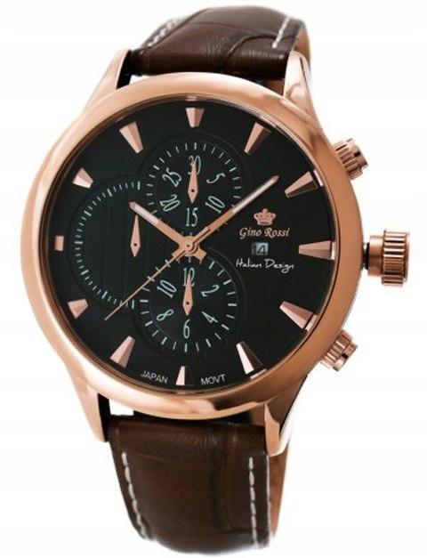 Zegarek Męski GINO ROSSI BIGBEN 8006A-1B1