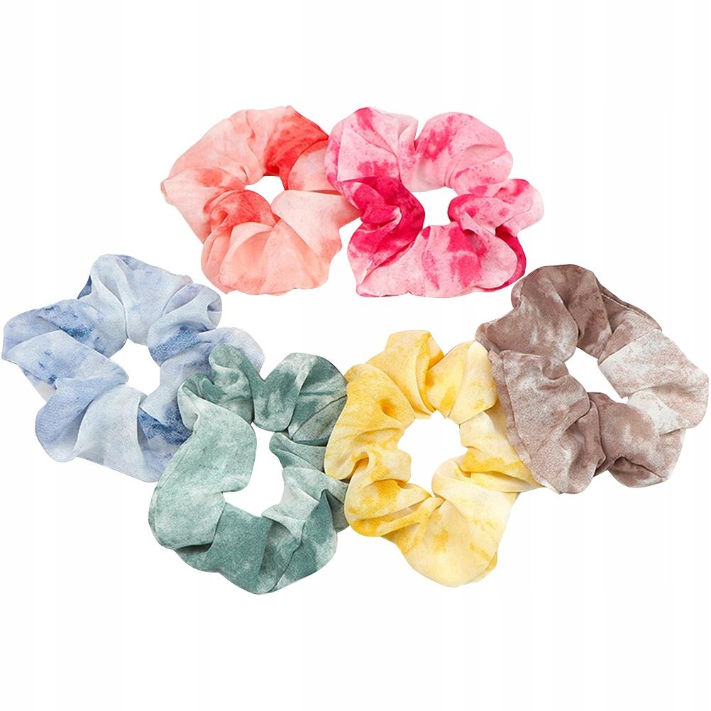 6 sztuk Kolorowe pierścienie do włosów Lina do wło