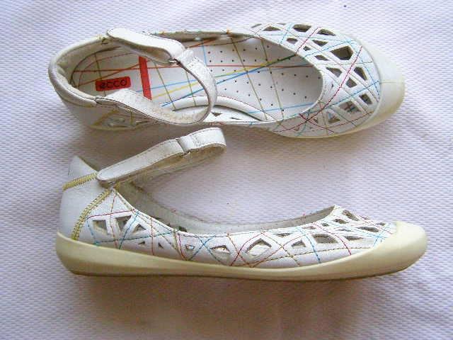 ECCO komfortowe skórzane letnie baleriny ROZ.36