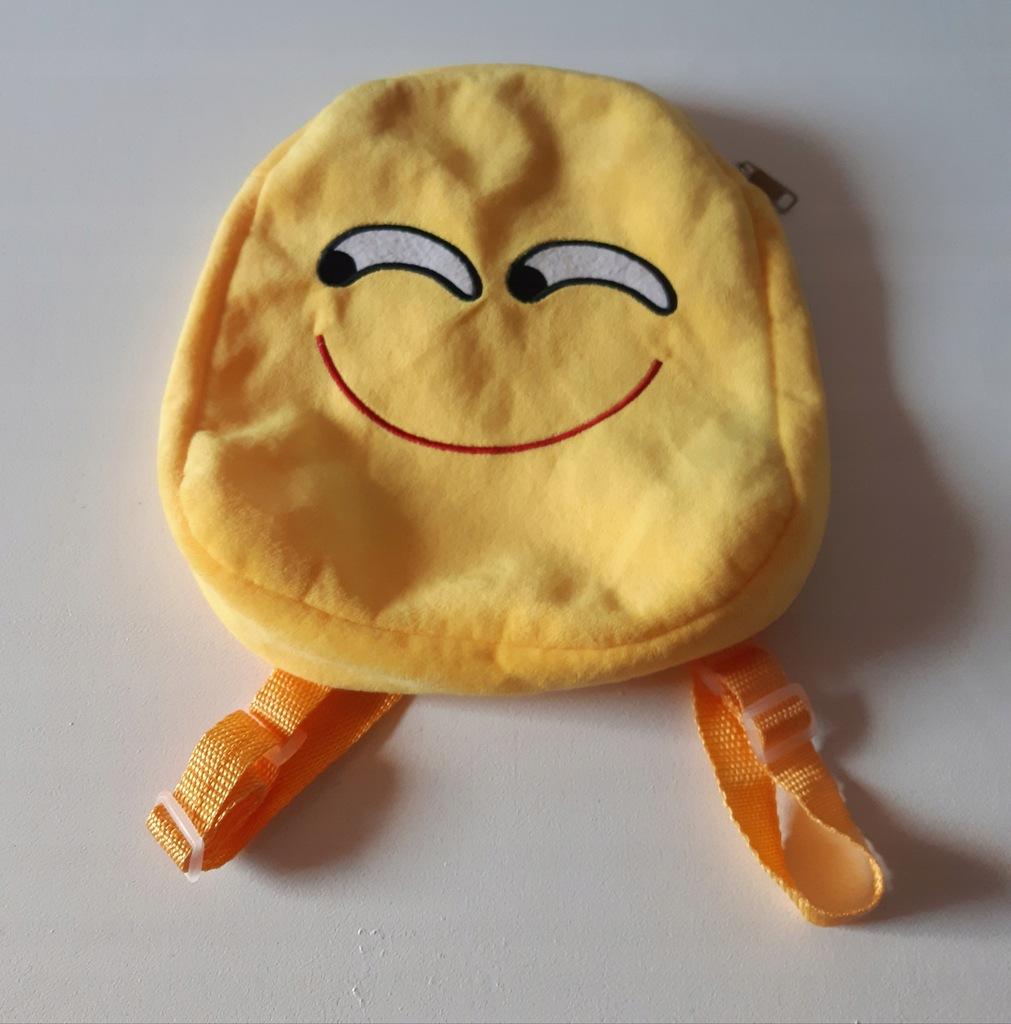 EMOJI plecak pluszak dla dziecka do przedszkola