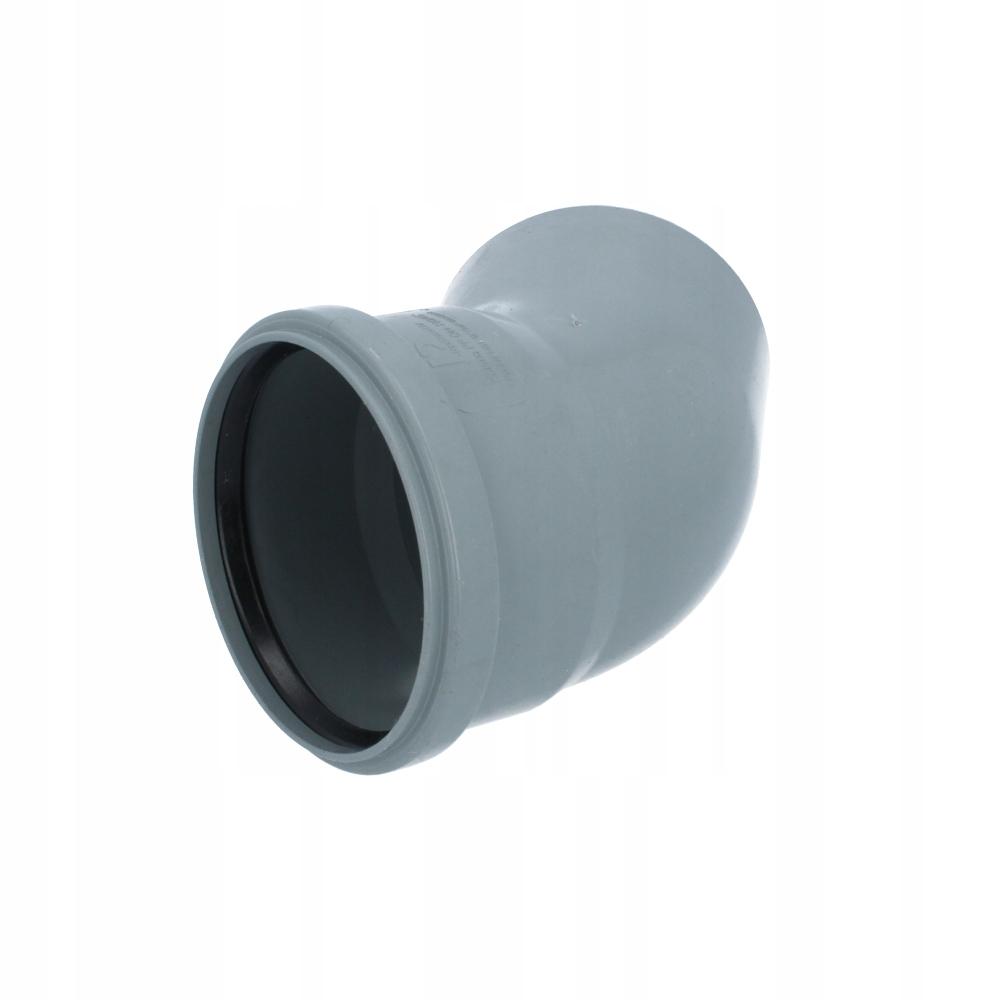 Kolanko łączenia rur kanalizacyjnych KĄT 45 DN-110