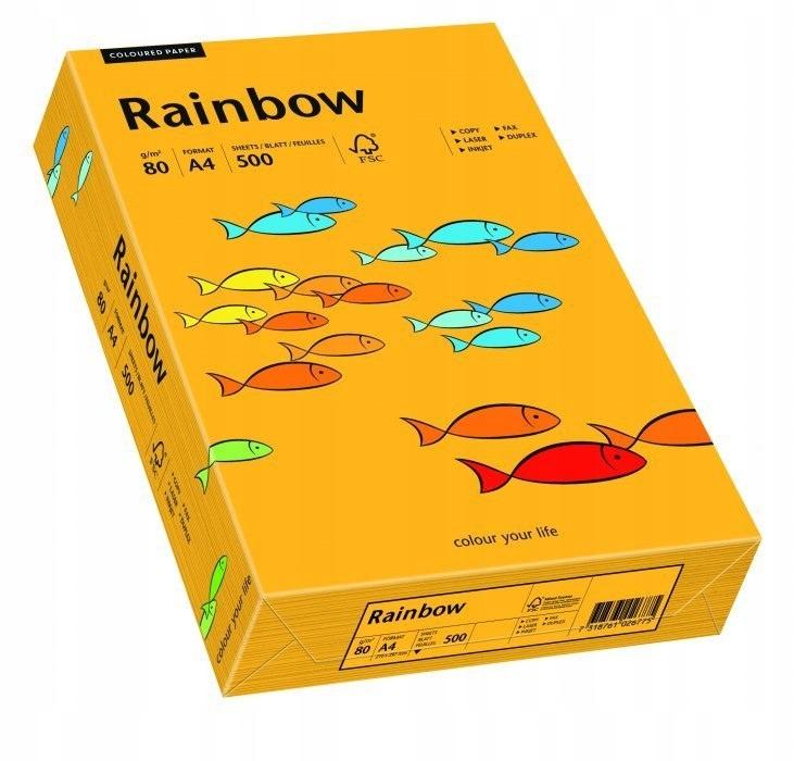 Papier xero kolorowy RAINBOW jasnopomarańczowy R22