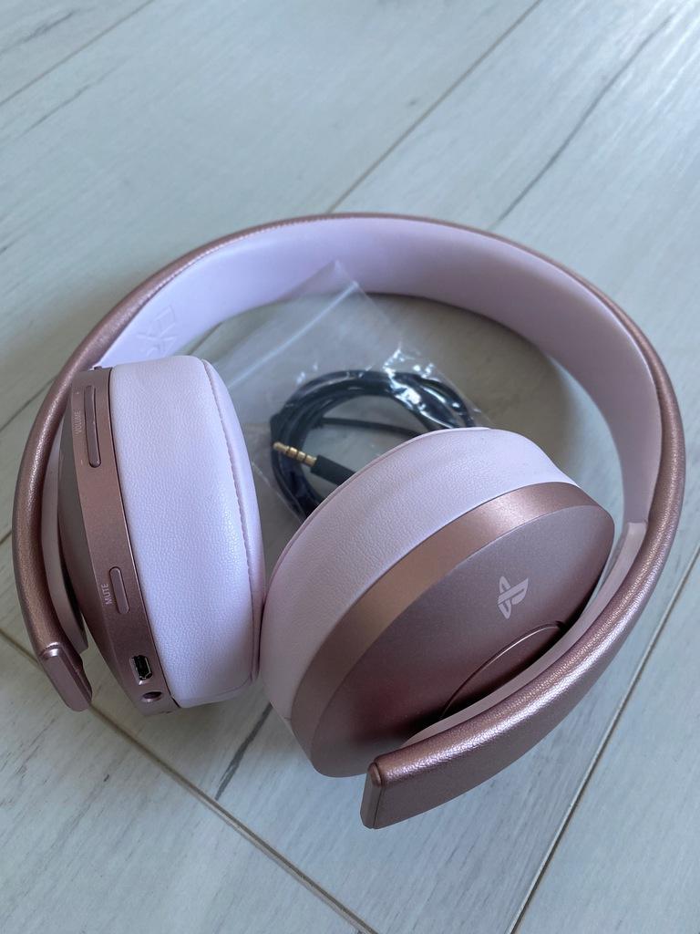 Słuchawki Sony PS Gold Wireless Headset Rose Gold
