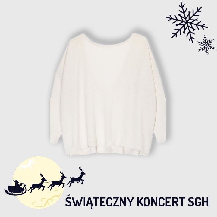 Biały sweter od Jestem Kasia