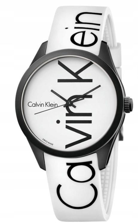 Piekny Zegarek Ck Calvin Klein Czarny Bialy 7875463741 Oficjalne Archiwum Allegro