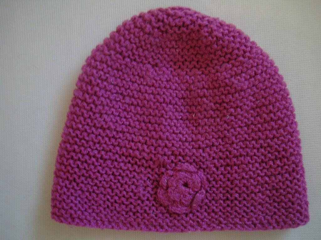 BAJECZNA różowa czapka z kwiatkiem