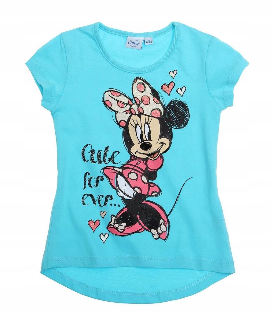 Myszka Minnie 92 koszulka t-shirt turkus Disney