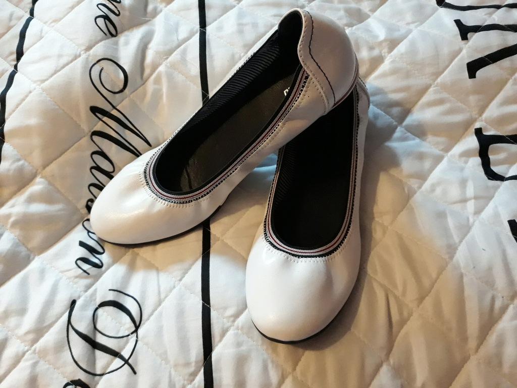 Balerinki baleriny białe wygodne Graceland 40