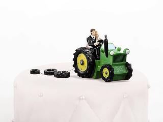 Figurka na tort Młoda Para na traktorze HIT