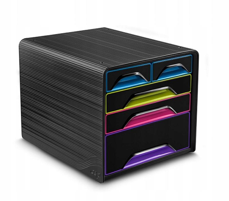 Zestaw 5 szufladek CEP Smoove czarny/mix kolorów