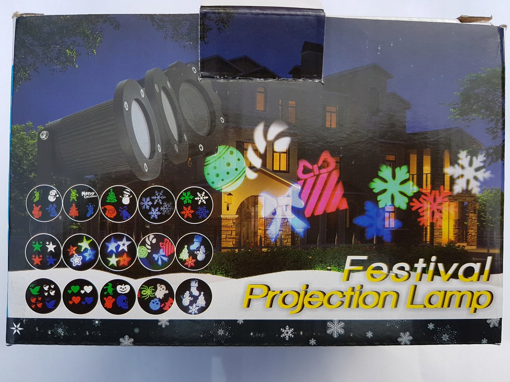 Rzutnik świąteczny multikolor RGB