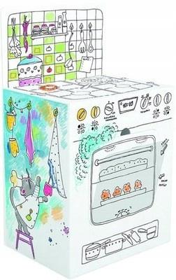 MONUMI Kolorowanka przestrzenna Kuchnia dla dzieci