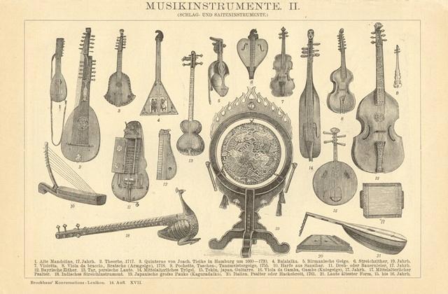Stare Instrumenty Muzyczne Reprint Xix W Grafiki 9321172803 Oficjalne Archiwum Allegro