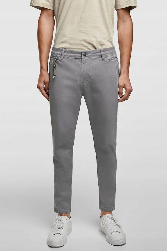 21Q051 ZARA MAN__MC9 SPODNIE CHINOS__W31