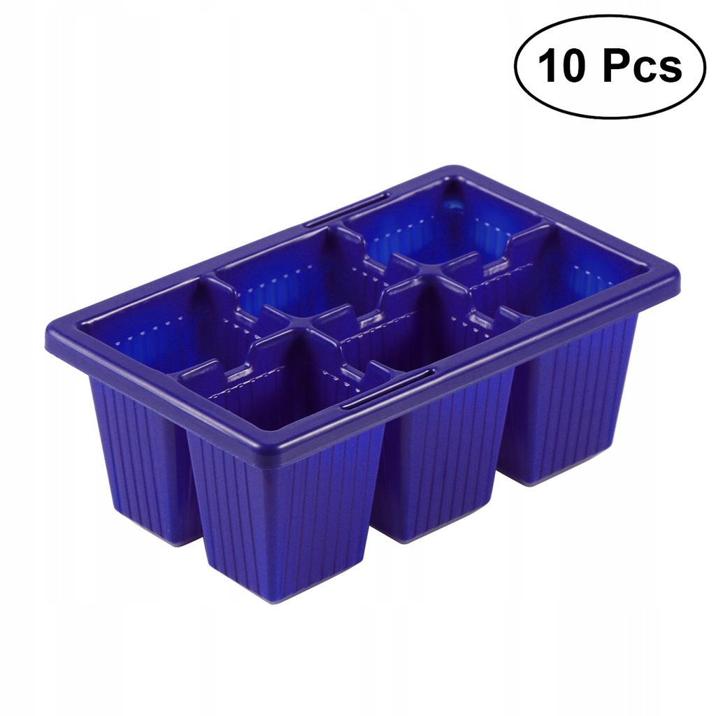 10 sztuk Taca Sprouter Seedling Rozsady Tace 6 Kom