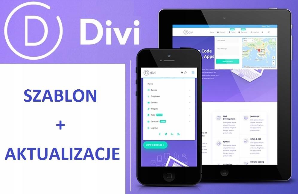 DIVI szablon Elegant Themes Wordpress-aktualizacje