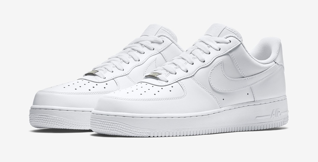 BUTY NIKE AIR FORCE 1 LOW 07 ALL WHITE 27 r.41