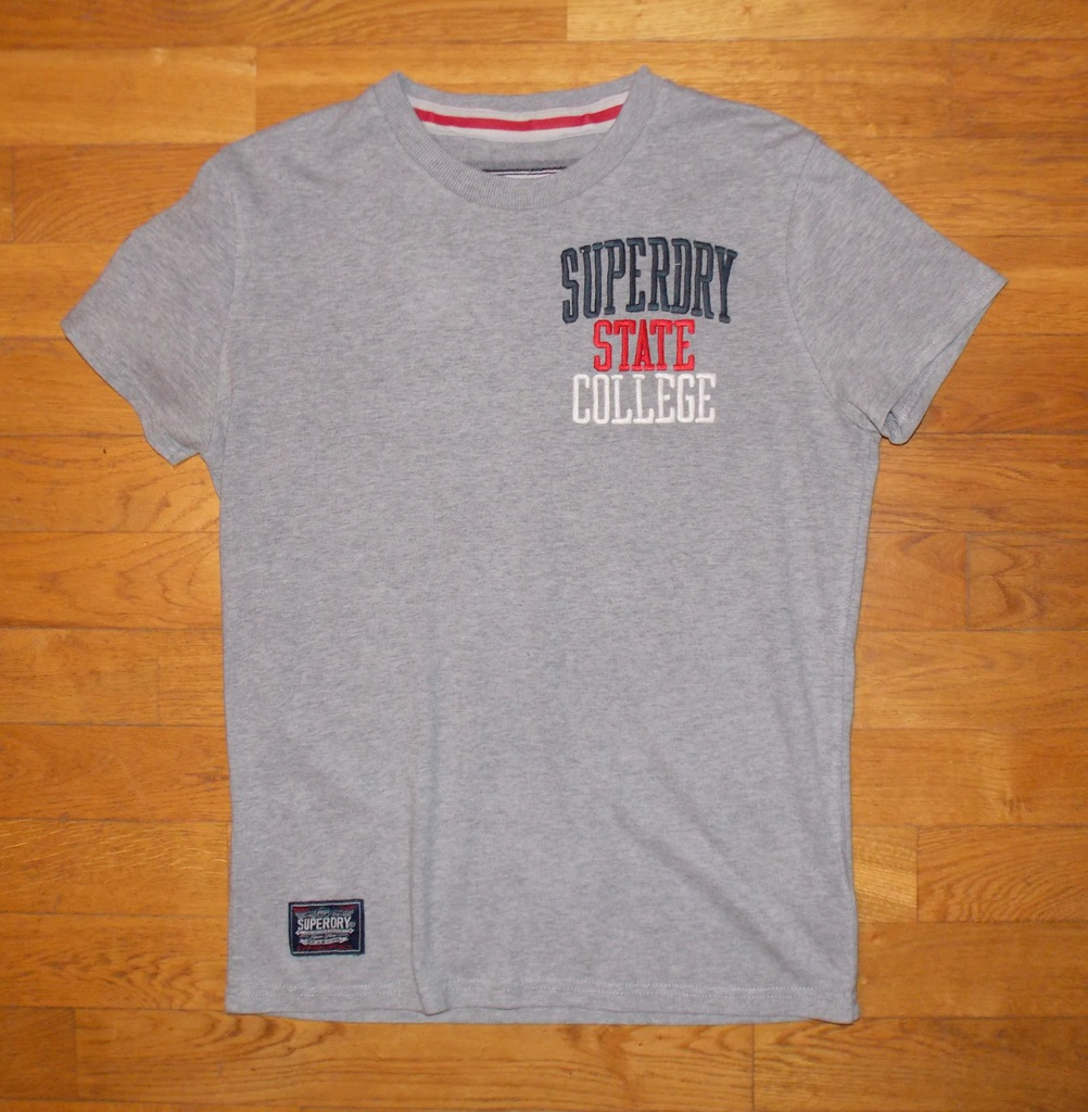 koszulka T-SHIRT szary SUPERDRY oryginalny napis M