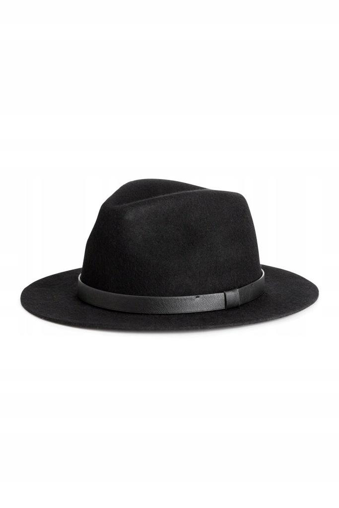 H&M Wełniany kapelusz rozm. L /60