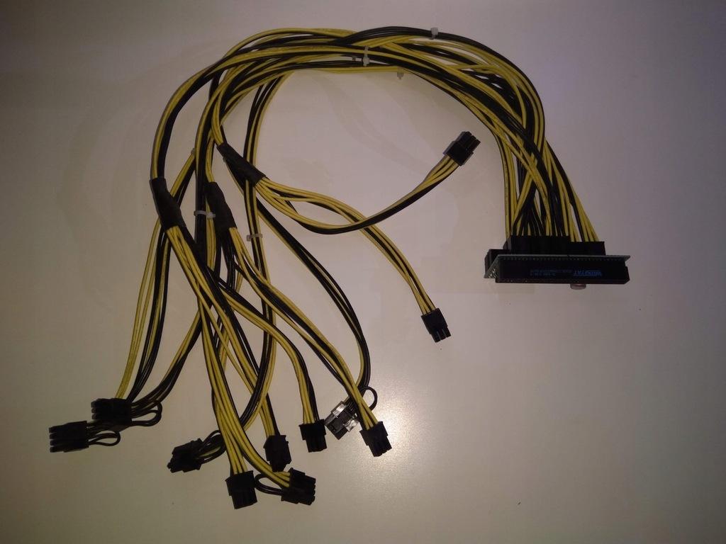 51ASIC PowerBroad V1.3 Adapter+kable GPU koparka