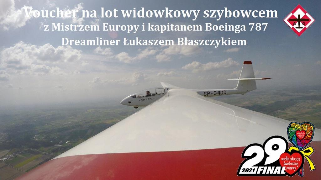Lot widokowy szybowcem z kpt.Łukaszem Błaszczykiem