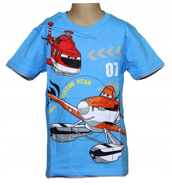 Super koszulka Planes Samoloty 116 cm NIEBIESKI