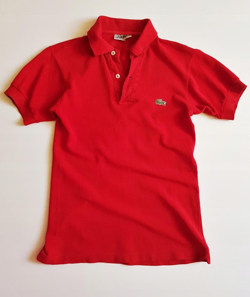 LACOSTE Czerwona Koszulka polo S? M? L?