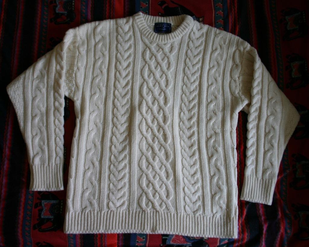 Sweter CHARLES TYRWHITT aran beżowy beż M