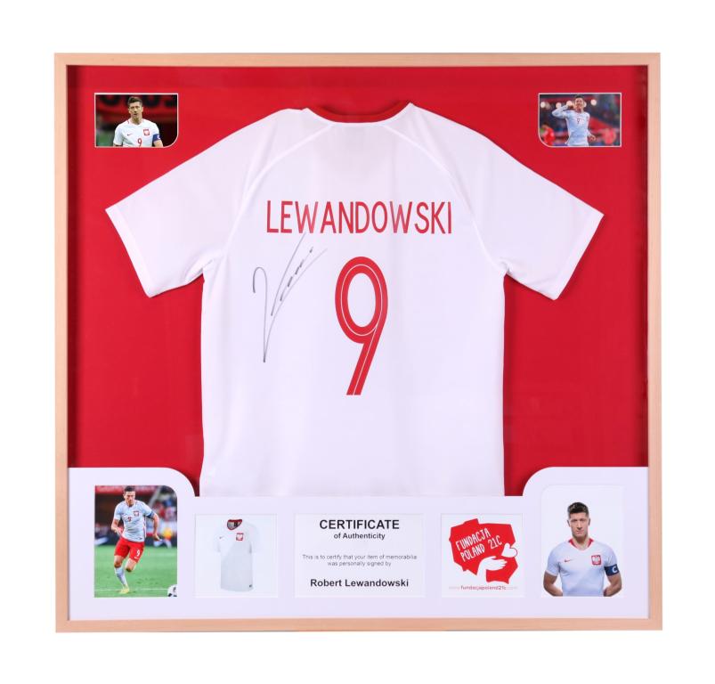 Lewandowski - koszulka z autografem w ramie! (pol)