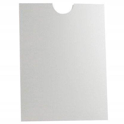 Kieszonka na tekst biała 10,5x14