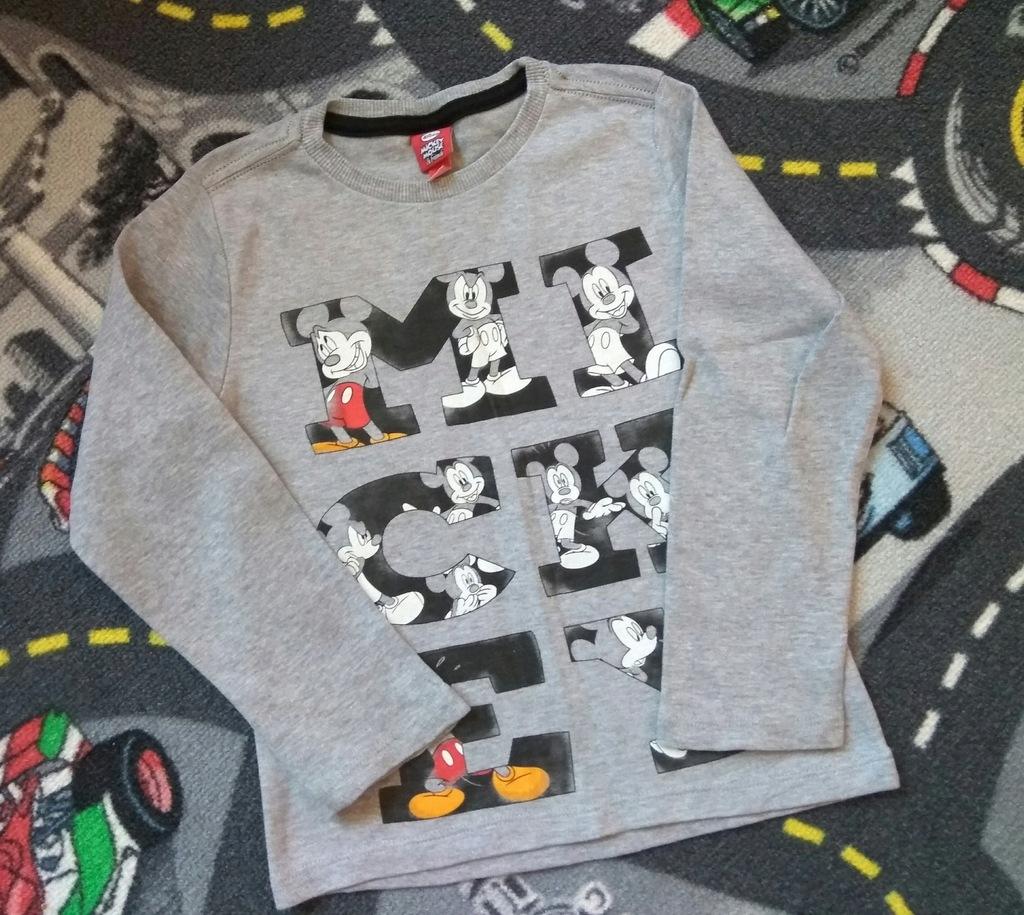 Disney bluzka długi rękaw Mickey 110 4-5l